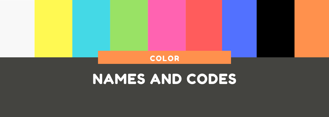 Color names and Color codes